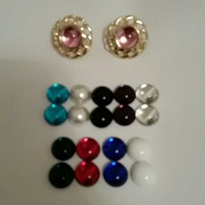 Earring Set, Clip On, Magnetic Interchangeable
